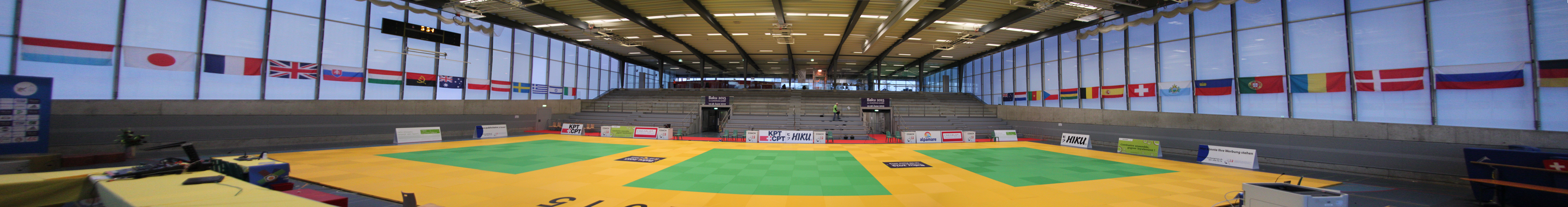 Panorama of the competition venue